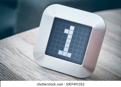 The Number 1 On A Digital Calendar, Thermostat Or Timer