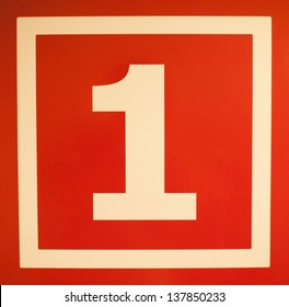 Number 1 on red background