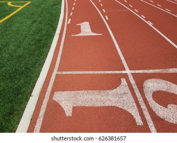 the number 1 at a running track