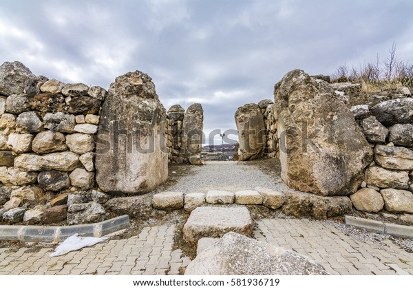 The number 1 temple  gate of The Hattusa that is The capital of the Hittite Civilization, Corum