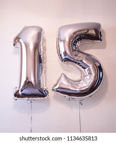 Number 15 - helium balloons foil. A great gift for fifteen years