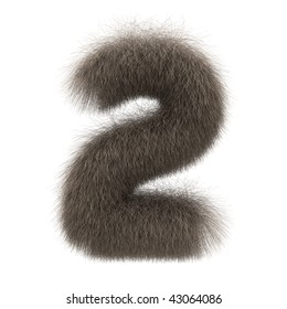 Number 2 from fur alphabet
