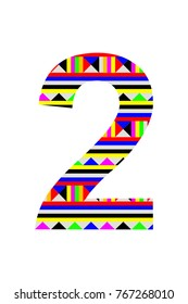 Number 2 icon on white background