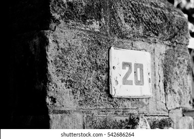 number 20 on wall