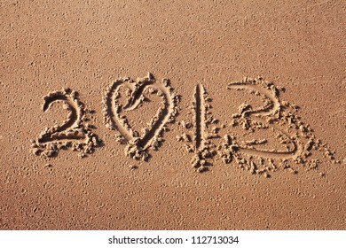 Number 2013 in sand.