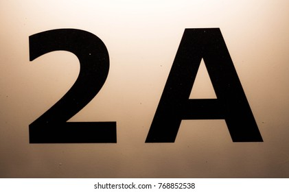 Number 2A on a white background