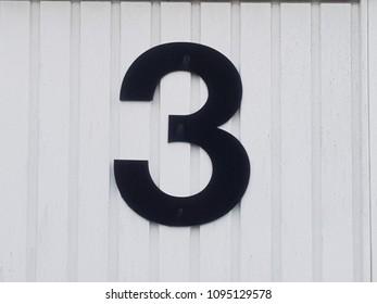 Number 3 street sign