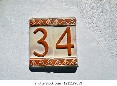 Number 34 in arabic style