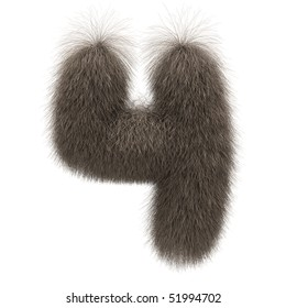 Number 4 from fur alphabet