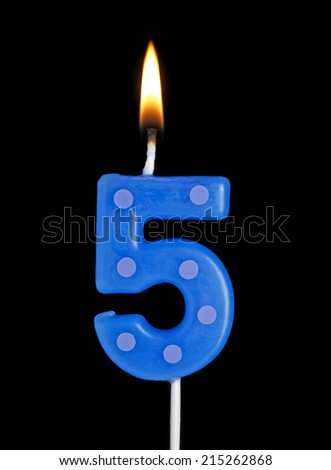 Number 5 Candle Stock Photo Edit Now 215262868