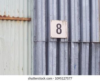 Number 8 street sign