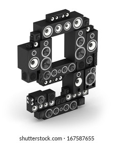 Number 9 from black woods hi-fi speakers sound systems in isometry