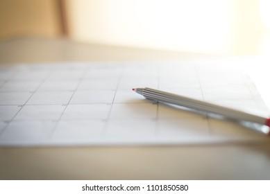 Number of blurred calendar in planning concept.