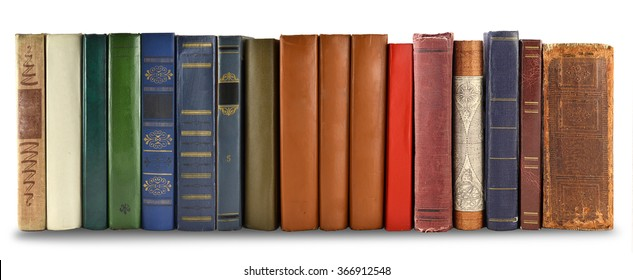 number of book covers, isolated on white background