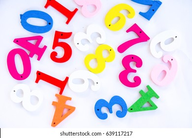 number colorful on white background