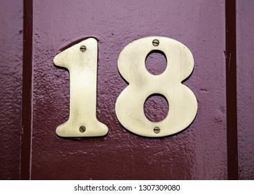 Number eighteen, detail of even number of information