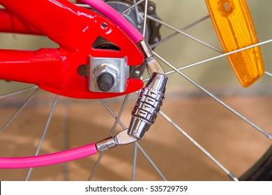 Number Lock on a Bike/ Bicycle Chain Lock