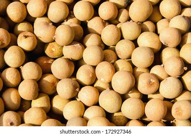 A number of Longan in fruit market