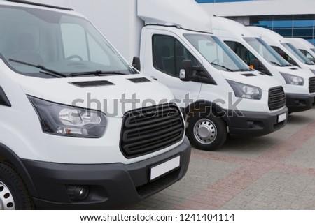 b34eeaf615 Number New White Minibuses Vans Outside Stock Photo (Edit Now ...