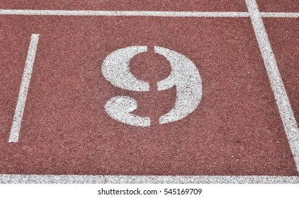 Number nine of track runner at the field athletics
