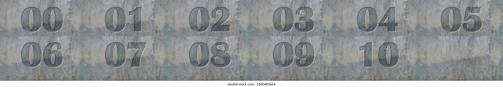 Number on a concrete background.