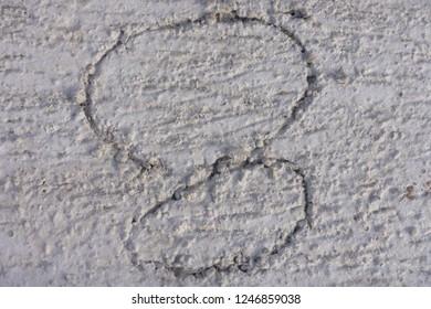 Number on precast concrete