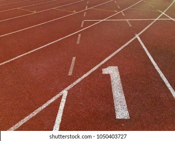 Number on running track.