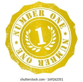 number one grunge stamp, in english language