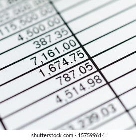 Number in paper chart (Focus on specific number)