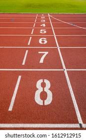 Number of running track in outdoor stadium.