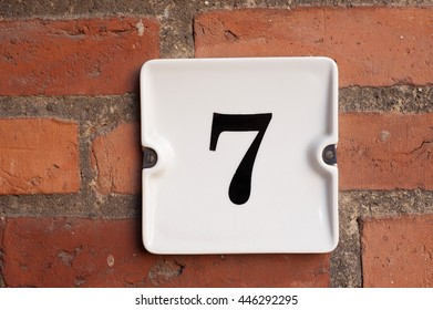 Number seven is the best number, block number, house number,