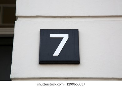 Number Seven on Building Facade