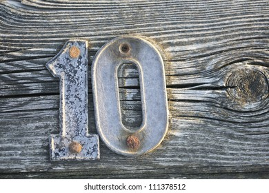 Number ten on a jetty