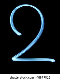 number two light painting