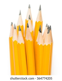 Number Two Pencils isolated on White background