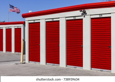 Numbered self storage and mini storage garage units II