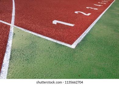 Numbering of plastic runway