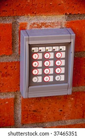 A numberpad for a secure entrance in downtown portland oregon.