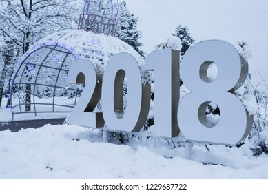 numbers 2018/decorations in city