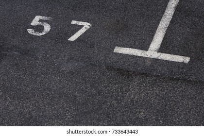 Numbers of empty parking space