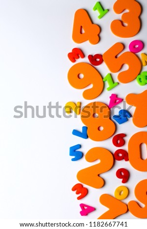 numbers math colorful fun education background stock photo edit now