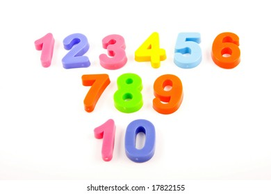 numbers on white background