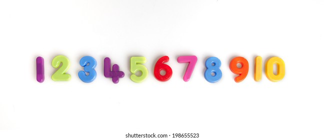 numbers one to ten in plastic