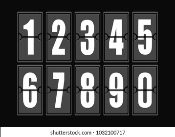 Numbers set in modern style.  elements illustration template for web design or greeting car