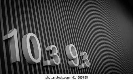 Numbers with stripes
