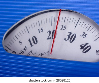 numerals on the display of mechanical balance