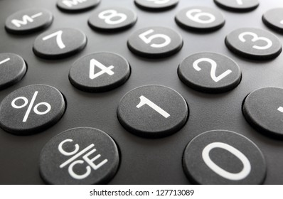 Numeric keypad, close-up