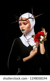 Nun. Halloween. Creative make up.