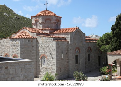 nunnery Evangelismos on the island of Patmos, Greece