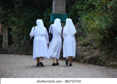 nuns on walk